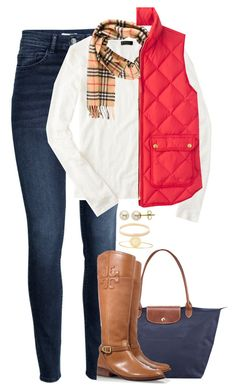 """"" by meljordrum ❤ liked on Polyvore featuring Longchamp, H&M, J.Crew, Burberry, Tory Burch, Lord & Taylor, Sarah Chloe and Kate Spade"