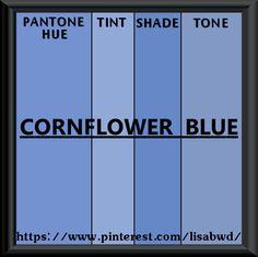 PANTONE SEASONAL COLOR SWATCH CORNFLOWER BLUE