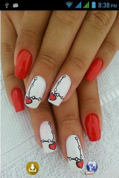 Hearts manicure