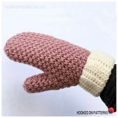 Free Crochet Mittens Pattern by Hooked On Patterns. Crochet yourself a cute and snuggly pair of textured mittens! #FreeCrochetPatterns #Crochet #Mittens #Winter #Gloves