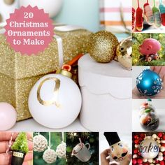 20 Pretty Christmas Ornaments to Make - Mod Podge ideas included!
