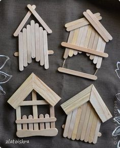 60 Rare and Easy Crafts for Kids that are Worth Trying – Палочки от эскимо – Kreativ Christmas Ornament Crafts, Christmas Crafts For Kids, Christmas Diy, Diy Popsicle Stick Crafts, Popsicle Stick Houses, Diy Crafts Hacks, Diy Home Crafts, Easy Crafts For Kids, Wooden Crafts