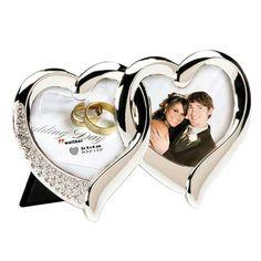 Herzrahmen mit Strasssteinen für Hochzeitsfotos als Hochzeitsgeschenk