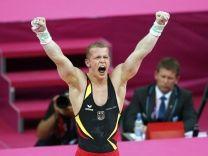 Photo # 20: July 29, 2012 - Germany - men's gymnastics - by Reuters - 156 x 208.  Hambüchen zeigt starke Qualifikation   Turner Fabian Hambüchen zieht souverän ins Mehrkampf- und ins Reck-Finale ein.