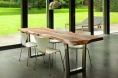 Stół z kawałka drewna - Meble pokojowe - Meble - Wnętrza - budnet.pl