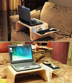Home Office Furniture: Choosing The Right Computer Desk Easy Craft Projects, Easy Woodworking Projects, Wood Projects, Craft Ideas, Pc Table, Laptop Stand, Laptop Table, Lap Desk, Desk Bed