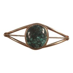 Navajo Tibetan Turquoise & Sterling Silver Cuff Bracelet By Phillip Yazzie