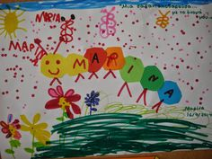 Νηπιαγωγός για πάντα....: Γλώσσα: Μαθαίνω το όνομά μου… διασκεδάζοντας Primary School, Pre School, Maps M, Name Activities, Create Your Own Website, Literacy, Learning, Blog, Names
