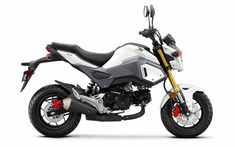 White 2017 Honda Grom Review / Specs & Changes - HP & TQ, MPG, Price, Release Date and more on Honda's new 2017 Grom 125 Motorcycle | Naked StreetFighter Mini Sport Bike