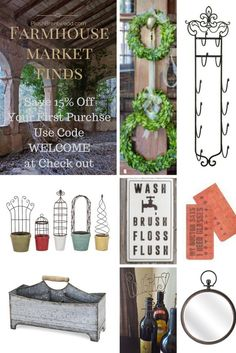 Farmhouse Market Finds on Plushbrentwood.com - Save 15% off with code WELCOME at checkout!
