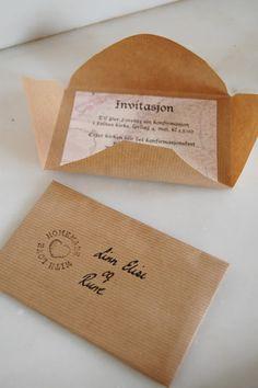 invitasjon Diy Invitations, Food Gifts, Diy Paper, Christening, Cardmaking, Diy And Crafts, Cards, Decor, Wedding