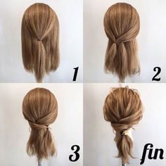 Easy way to add a low ponytail with a scarf cute texture - Frisuren - Hair Length Pretty Hairstyles, Easy Hairstyles, Updos Hairstyle, Hairstyle Ideas, Barbie Hairstyle, Fringe Hairstyle, Ponytail Hairstyles Tutorial, Ponytail Tutorial, Bangs Hairstyle