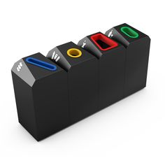 OFFICE Modern Design Selective Waste Recycling Bin for Trash Sorting