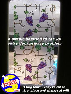 Coavas Stained Glass Window Film Privacy Window Film Static Cling Decorative Window Film Window Sticker for Home Bathroom Kitchen Office by Inches Stained Glass Window Film, Static Cling, Big Windows, Glass Film, Flea Markets, Camper Trailers, Rv Camping, Entry Doors, Frosted Glass