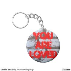 Graffiti Keychain You are loved #keychain #JustSold #ThankYou :)