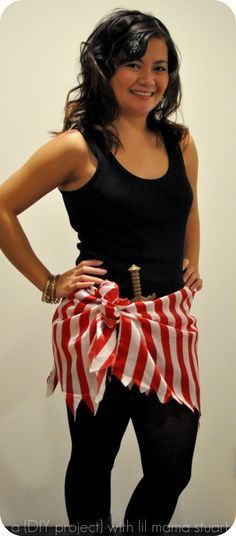 Simple Pirate Costume for Women.You can find Homemade pirate costumes and more on our website.Simple Pirate Costume for Women. Pirate Halloween, Pirate Day, Pirate Birthday, Halloween Diy, Pirate Dress Up, Halloween History, Lady Pirate, Pirate Woman, Pirate Theme