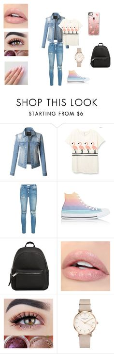"""Everyday outfit"" by alexislittle2004 ❤ liked on Polyvore featuring LE3NO, Mother, Converse, MANGO, ROSEFIELD and Casetify"
