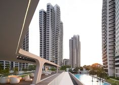 Zaha Hadid's D'Leedon in Singapore has towers with petal-shaped plans