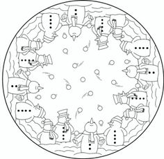 coloring page Mandala Christmas on Kids-n-Fun. Coloring pages of Mandala Christmas on Kids-n-Fun. More than coloring pages. At Kids-n-Fun you will always find the nicest coloring pages first! Cool Coloring Pages, Mandala Coloring Pages, Christmas Coloring Pages, Coloring Sheets, Coloring Books, Christmas Colors, Christmas Snowman, Christmas Ornaments, Christmas Design