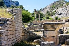 Glanum is an extensive archaeological site of a former Roman settlement near Saint-Rémy-de-Provence, France. The site itself is thought to pre-date the coming of the Romans, though most of the remains that we can see today are Roman ruins from the first and second centuries AD.