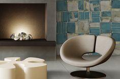 Tile- Newcotto Collection -Aquamarine 20x20 /by @ornamentatiles #Sangahtile #tile #tiles #interior #livingroom #design #wall #point #art