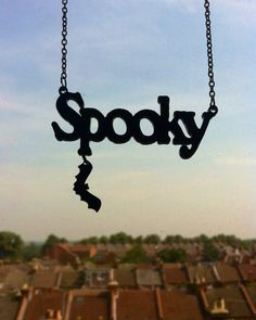 Spooky laser cut necklace by SkullyBunting on Etsy, £15.00