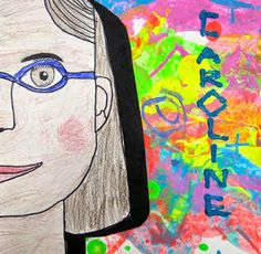 Cassie Stephens: In the Art Room: My Fave Portrait Lessons-- I think I'm going to read the book about art and music (the name of the book is escaping me right now), and have kids paint to music.. then draw self portraits. Project for... 2nd grade?