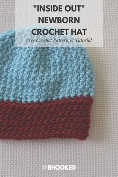 Crochet beanie for babies. Click through for the free pattern and video tutorial. Also available in adult size! #BHooked #Crochet #FreeCrochetPattern