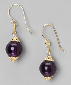 Take a look at this Liv Oliver Amethyst Earrings by Liv Oliver on #zulily today!