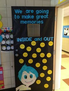 We are going to make great memories! Cool Inside Out bulletin board!