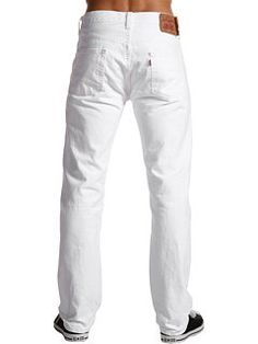 Levi's Men's 501 Original Fit Jean, White, 44X30