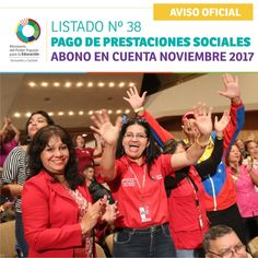 LISTADO Nº 38 PAGO DE PRESTACIONES SOCIALES ABONO EN CUENTA NOVIEMBRE 2017