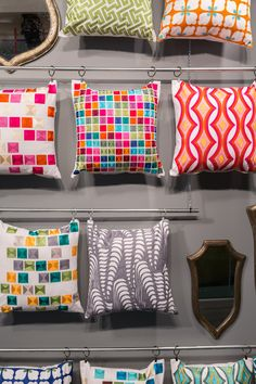 Pillow Wall | Loloi Rugs Vegas Market Showroom