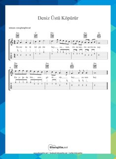 Over The Sea Foam - Musical Note - Tab is to Guitar Tabs Songs, Jazz Guitar, Music Guitar, Ukulele, Music Songs, Professionelles Logo, Maya Grant, Song Search, Musik Player