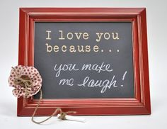 What a cute way to keep reminding each other about the little things you love them for!