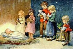 Vintage Erica von Kager Nativity Christmas Card