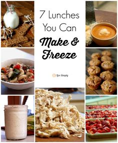 So many awesome ideas for freezing lunches that go beyond the sandwich! 7 Lunches You Can Make and Freeze | Live Simply