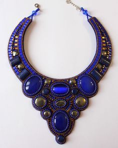 Beautiful embroidered jewelry by Anna Galash | Beads Magic
