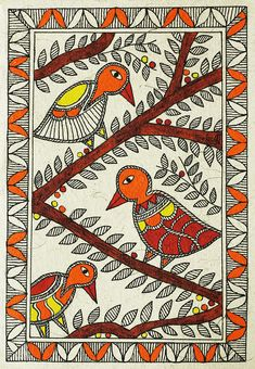 Birds And Branches Drawing by Neha Dasgupta