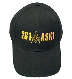 4e02d340494 2B1ASK1 Mason Baseball Cap 2B1 ASK1 Freemason Black Hat Mens C611YGG3PR1