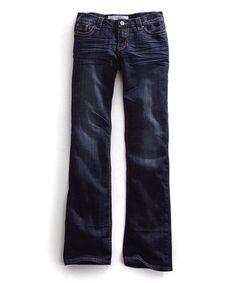 Look what I found on #zulily! Blue Loop-Stitch Bootcut Jeans #zulilyfinds
