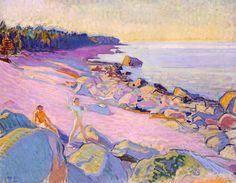 Boys on the Shore   -     Magnus Enckell 1910   Finnish 1870-1925  oil on canvas , 78 x 101cm