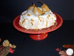 Coisas simples são a receita ...: Pavlova com pêras e caramelo salgado