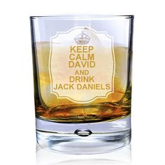 Personalised Keep Calm And Drink Jack Daniels #Whiskey Glass #JackDaniels