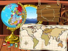Gra geograficzna dla dzieci.