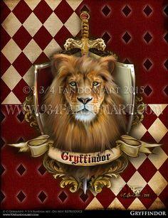 Gryffindor - Fandom Art Print - Harry Potter House Inspired Fan Art