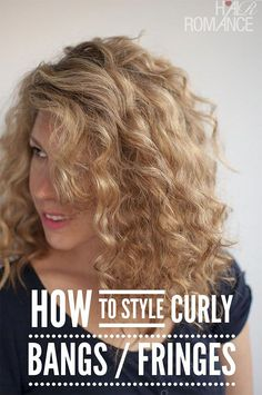 Question – How to style curly bangs / fringes - Denial Hair -Reader Question – How to style curly bangs / fringes - Denial Hair - Snow Flake Crown More Reader Question – How to style curly bangs / fringes New Arrival Specia. Dyed Bangs, Curly Hair With Bangs, Wavy Hair, Dyed Hair, Curly Hair Styles, Fringe Bangs, Hair Bangs, Fringe Hairstyles, Pretty Hairstyles