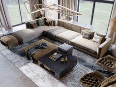 SHADES OF BEIGE on Behance Outdoor Furniture, Outdoor Decor, Furniture Ideas, Shades Of Beige, 3ds Max, Floor Design, Modern Luxury, Ground Floor, Behance