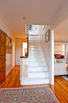 Historic Antique Federal-Style Becomes Bright and Roomy with R - traditional - staircase - boston - Mary Prince