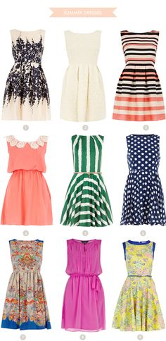 1950's style party dresses. Boat neck. Natural waist. Gathered or pleated skirt <3.